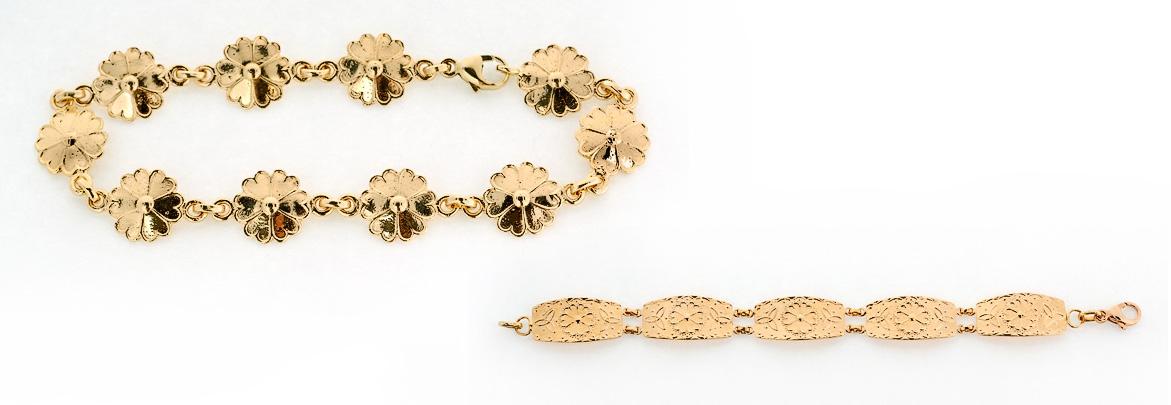 Armband finns i tre olika varianter. Guld pris från 2990kr - 11 500kr